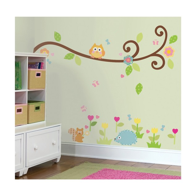 Roommates Nursery Baby Room Wall Decor Scroll Tree Branch Wall Decals
