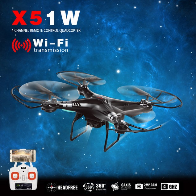 2.4G Altitude Hold HD Camera Quadcopter RC Drone 2MP WiFi FPV Drone Hover