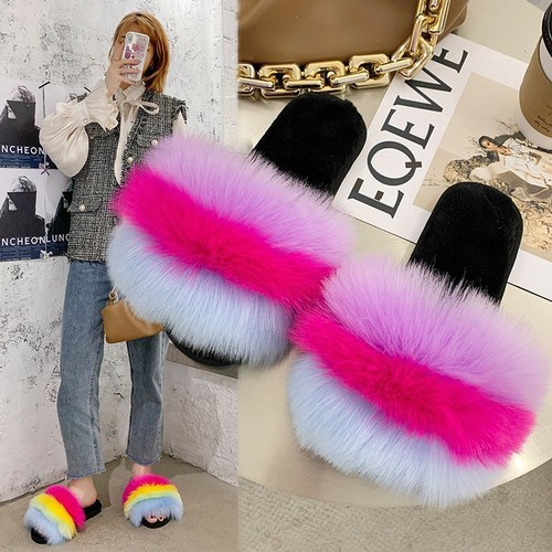 Women's Warm And Non-Slip One-Line Plush Slippers