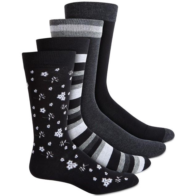 Bar III Men's 4-Pk. Socks Black Size Regular