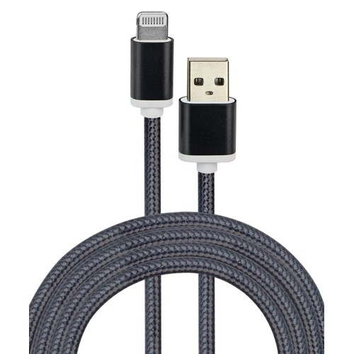 2-Pack Metallic Braided Lightning to USB Cable