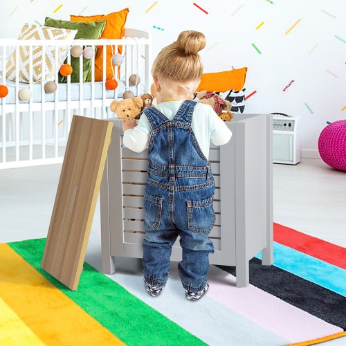 Costway Wooden Toy Storage Organizer Kids Toy Chest W/Lid for Kindergarten