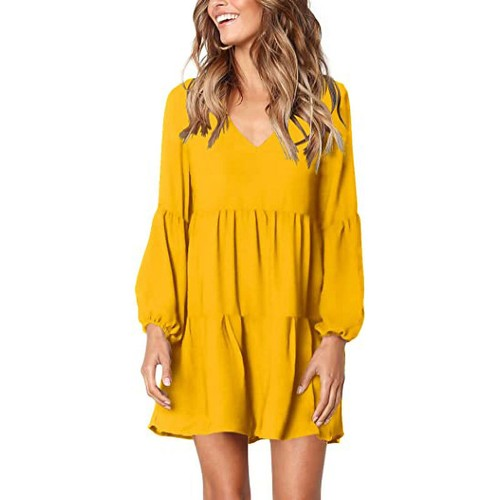 Women's Tunic Swing Shift Dress- 6 Colors