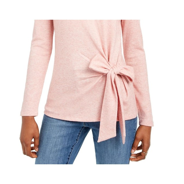 INC International Concepts Women's Side-Tie Top Pink Size Medium