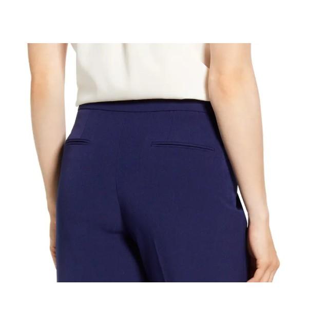 Anne Klein Women's Crepe Bowie Slim-Fit Pants Navy Size 6