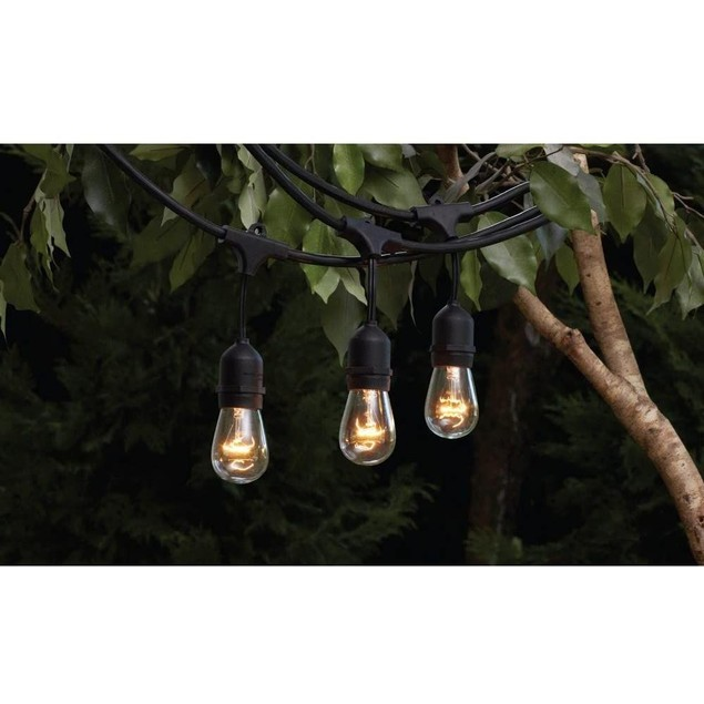 Hampton Bay 48 Feet Long Lasting LED Indoor/Outdoor String Light, 24 Piece