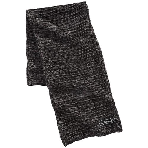 Calvin Klein Men's Marled Reversible Scarf Black Size Regular