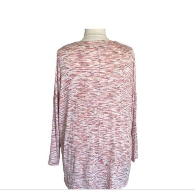Style & Co Women's Plus Space Dye Sweater Knit Tunic Red Size 3X