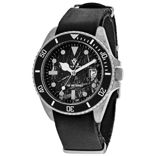 Christian Van Sant Men's Montego Vintage Black Dial Watch - CV5200B