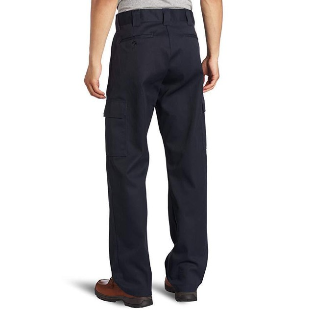Dickies Men's Relaxed Straight Fit Cargo Work Pant, Dark Navy, 40x32