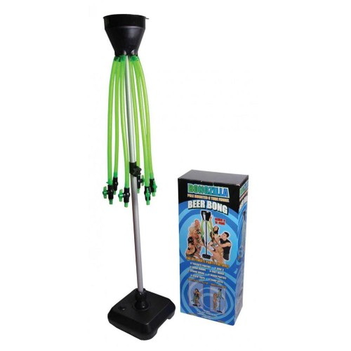 Bongzilla 6 Tube Multi Beer Bong With Stand
