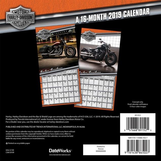 Harley Davidson Mini Wall Calendar, Motorcycles by Calendars