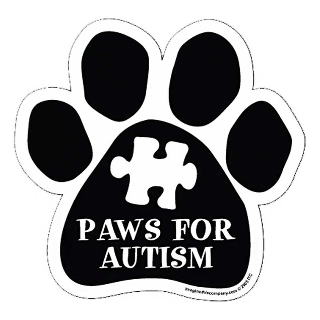 Paws For Autism Paw Magnet