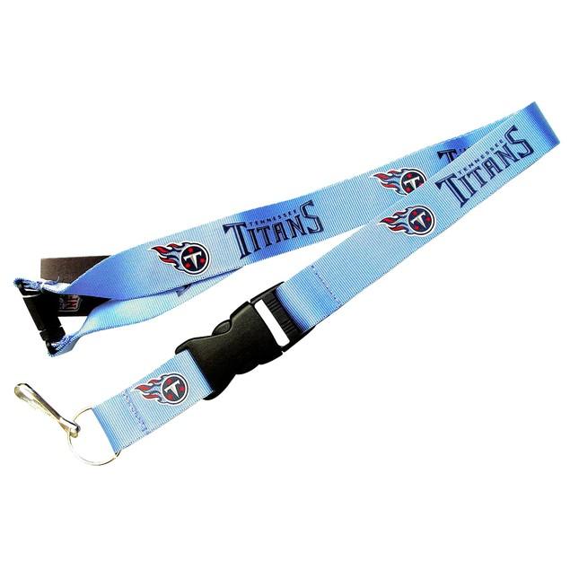NFL Lanyard Keychain Batch Id Holder Tennessee Titans - Blue