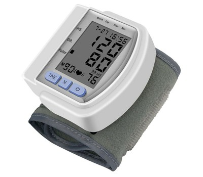 Digital Automatic Wrist Blood Pressure Monitor Heart Rate Tester Monitor Was: $49.16 Now: $16.99.
