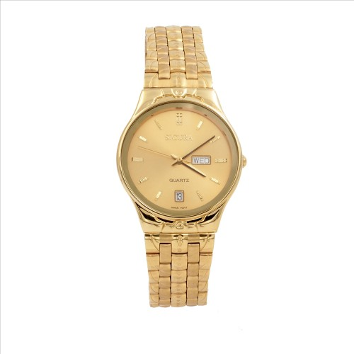 Sicura Womens Watches SJH 3574 52Y Yellow Gold Quartz Stainless Steel Gold Tone