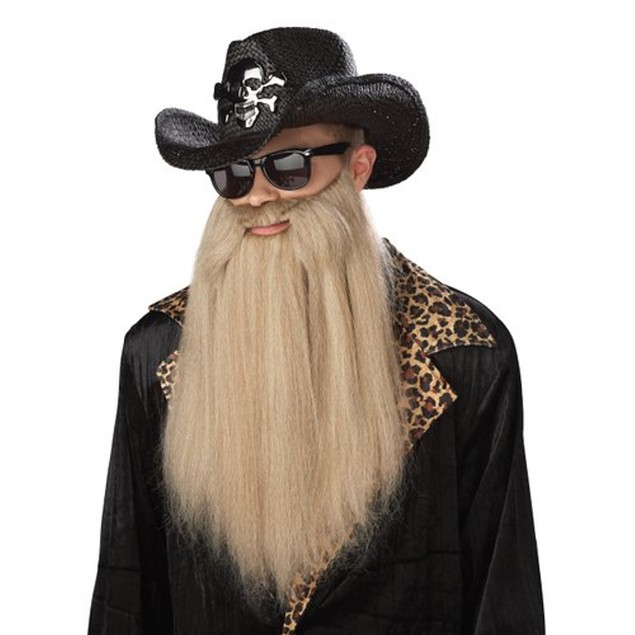 Sharp Dressed Man Beard ZZ Top 80's Long Duck Dynasty Biker Rocker Blonde