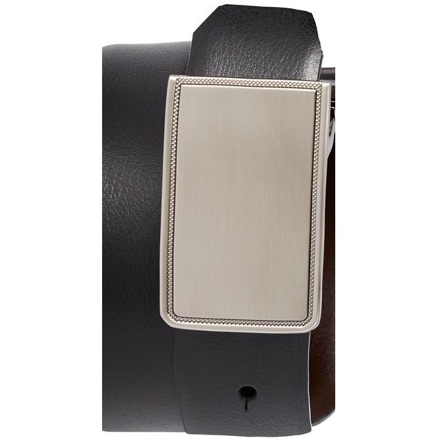 Closeout! Perry Ellis Men's Rachel Plaque Belt Black Size 40