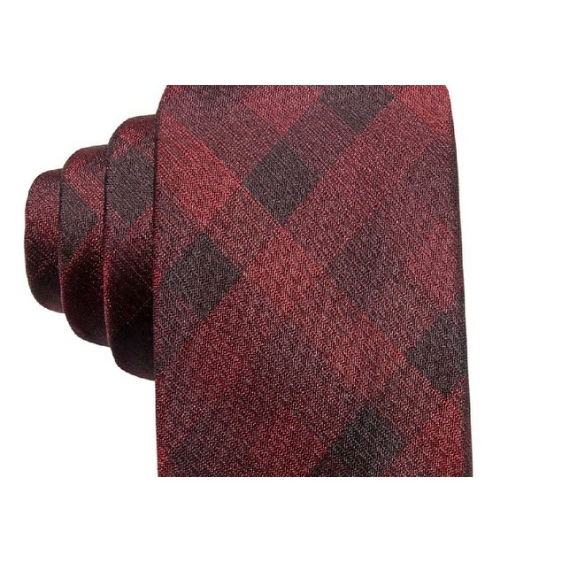 Ryan Seacrest Distinction Men's Skinny Neck Silk Tie Red