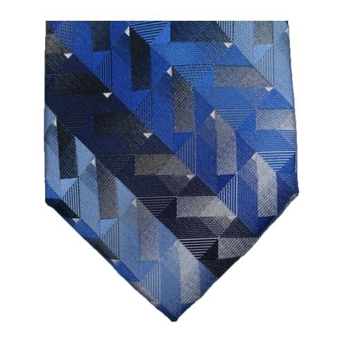Van Heusen Men's Katrino Classic Geometric Tie Navy Size Regular