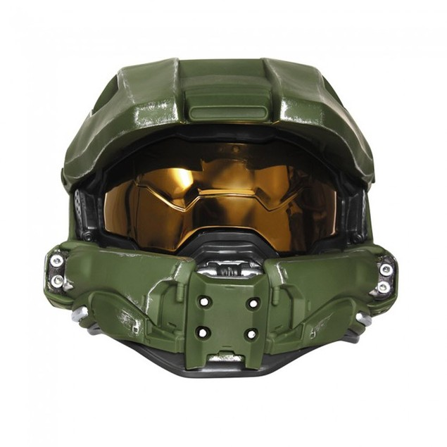 Master Chief Full Helmet Deluxe Adult Halo XBOX Mask With Lights Costume