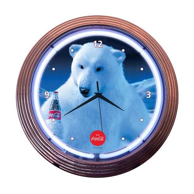 Neonetics Chrome Green Standard Neon Clock