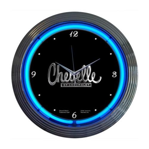 Neonetics Chrome White Standard Neon Clock