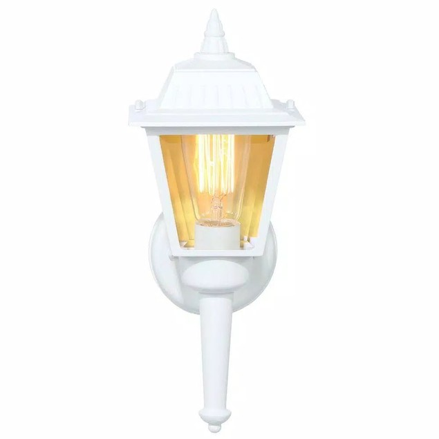 Hampton Bay 1-Light Classic Exterior Wall Lantern Sconce, White