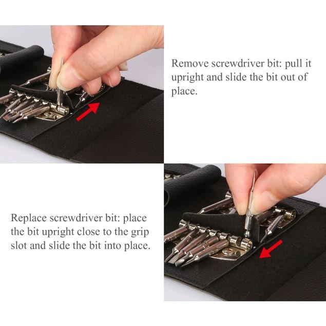 25 in 1 Multi-Purpose Precision Screwdriver Wallet Kit Repair Tools