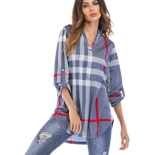 Women's 3/4 Sleeve Tunic Shirt S-3X. also in Plus by Haute Edition