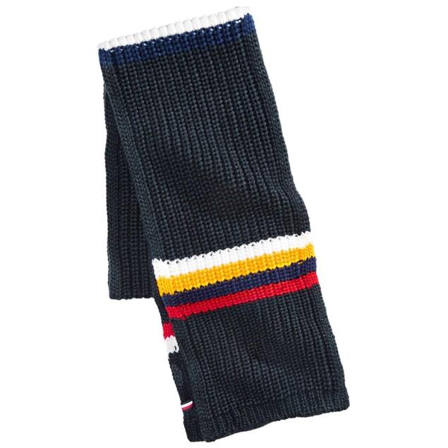 Tommy Hilfiger Men's Chunky-Knit Stripes Scarf Navy One Size