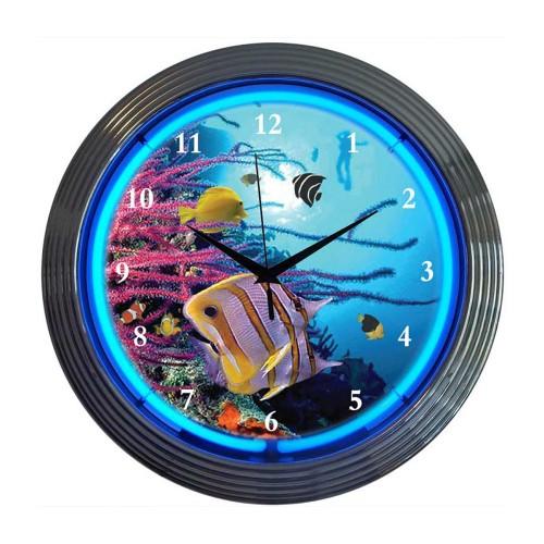 Neonetics Bbq Pig Neon Clock