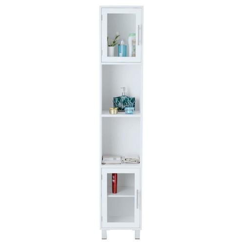 "Costway 71"" Bathroom Tall Tower Storage Cabinet Organizer Display Shelves B"