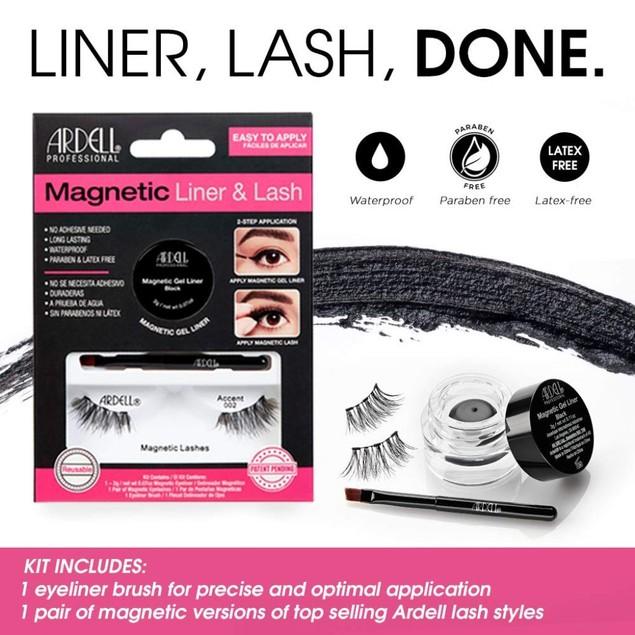 Ardell Professional Paraben & Latex Free Magnetic Gel Liner & Lash, Black