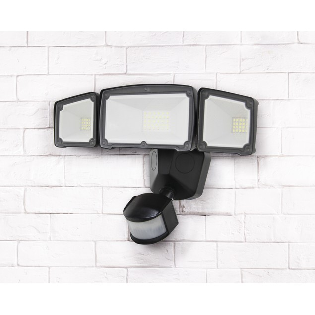 LUXWORX ALUMINUM TRIPLE HEAD SOLAR SENSOR LIGHT