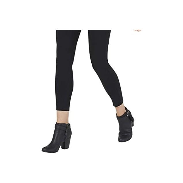 Maison Jules Women's Basic Mid-Rise Leggings Black Size Small
