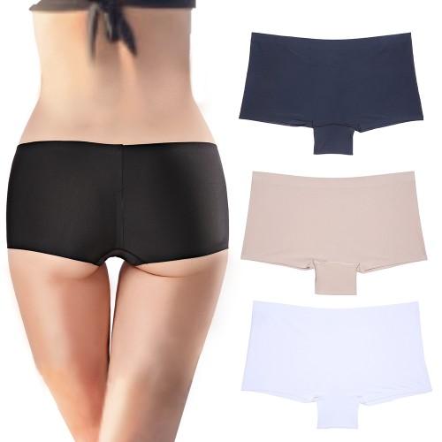 3 Pack Women's Comfort Boyshorts Soft Underwear Seamless Invisible Panties