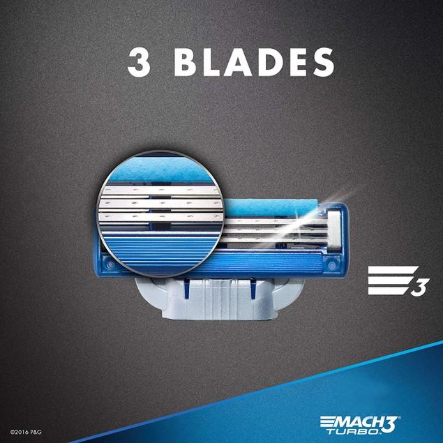 8-Pack Gillette Mach3 Turbo Men's Razor Blades