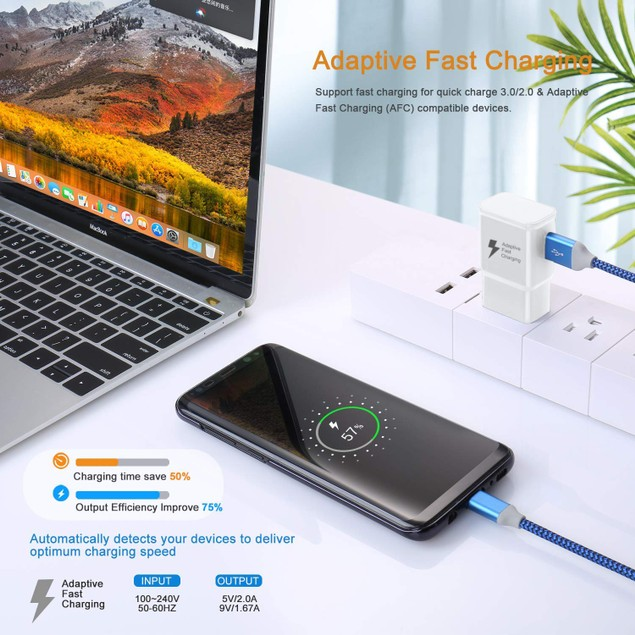 3 Pack of Fast Charging USB Wall Chargers