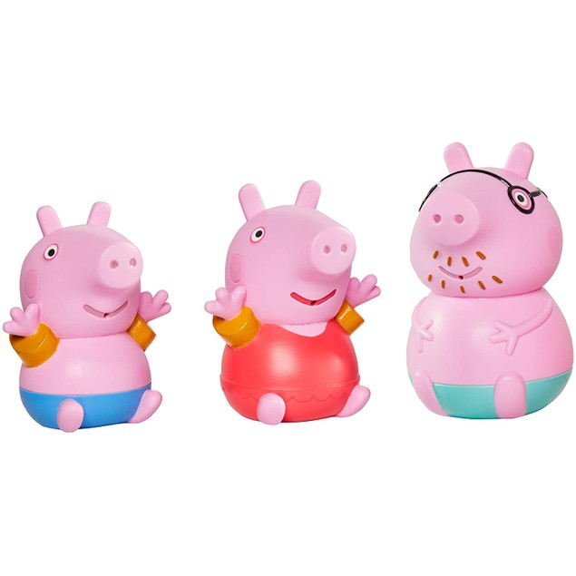 Daddy Pig and Peppa and George (Peppa Pig) Bath Squirters