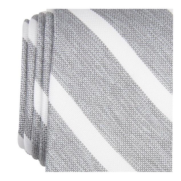 Bar III Men's Lovett Stripe Skinny Tie Gray Size Regular