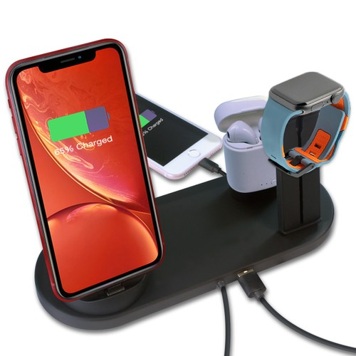 3-in-1 Universal Charging Station for Mobile Devices