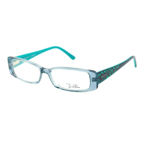 Emilio Pucci Women Eyeglasses EP2655 462 ClearBlue/Turquoise 53 14 135 Rectangle