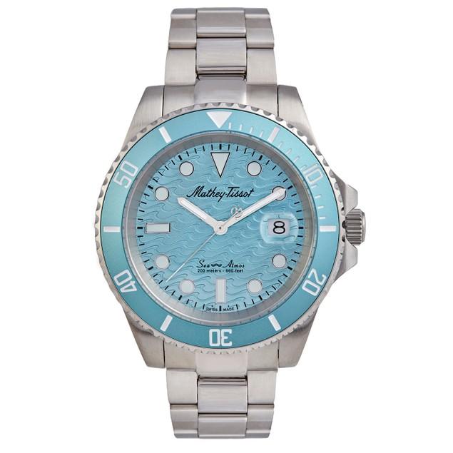 Mathey Tissot Men's Mathy Sea Blue Dial Watch - H906ZABU