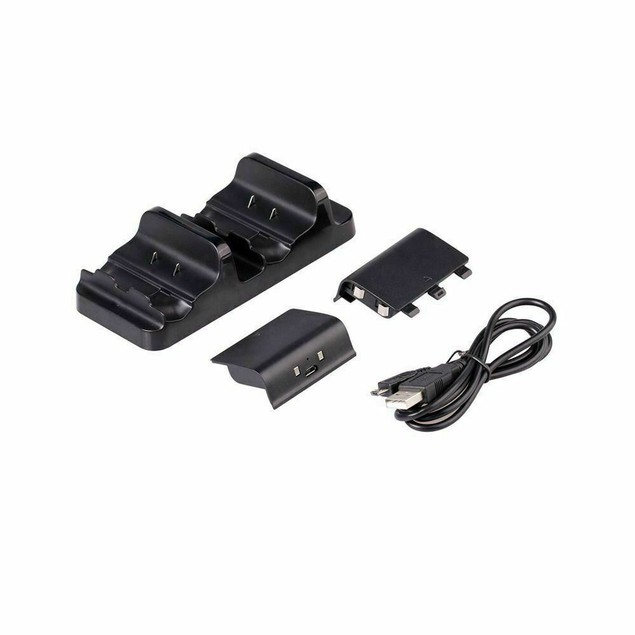 Dual Charging Dock Station Controller Charger for XBOX ONE + 2 Battery Pack