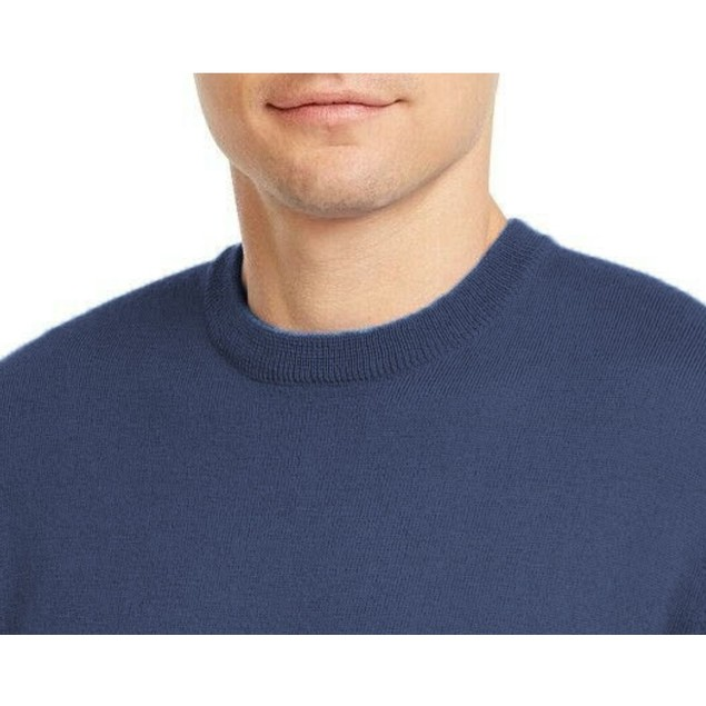 Club Room Solid Crew Neck Merino Wool Blend Sweater Navy Extra Large