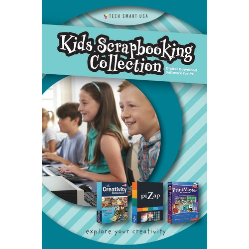 Kids Scrapbooking Collection - Creativity Collection 2 piZap Pro and PrintMaster Platinum v8 Bundle