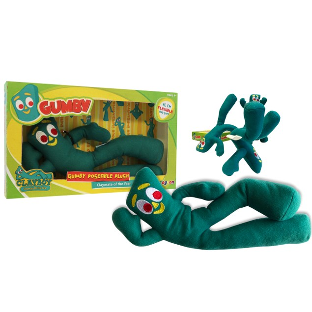 """Gumby Poseable Plush 9"""" Bendable Flexible Toy"""