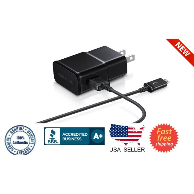 Samsung 2.0A Universal Micro USB Charger w 5ft USB Cable Black