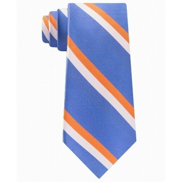 Tommy Hilfiger Light Blue Orange White Stripe Tie One Size
